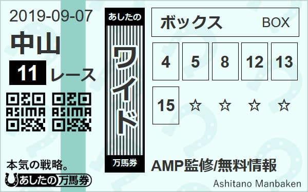 9月7日(土)中山11R