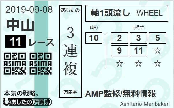 9月8日(日)中山11R